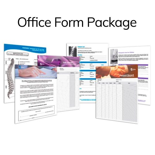 Schubel Chiropractic Patient Education Office Form Package